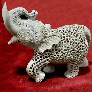 7 inch Green Marble Elephant Statue