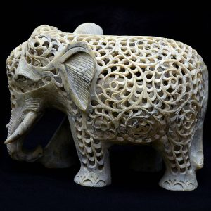 Green Marble Elephant Statue