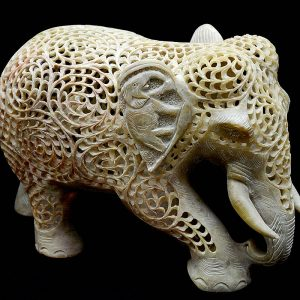 Carved 6 inch Elephant Statue