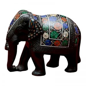 6 inch Black Marble Elephant Statue