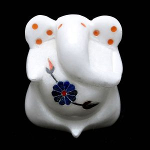 White Fancy Ganesha of 2 inch