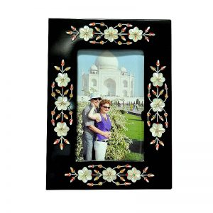 8/6 inch Black Marble Standing Photo Frame