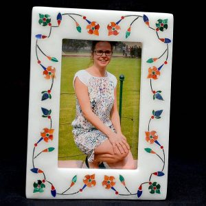 White Marble Photo Frames 6/4 inch
