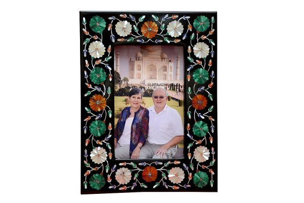 8/6 inch Black Marble Photo Frame