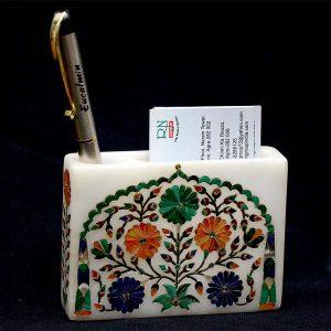 White Visiting Card Holder Pen Holder of 5″3′