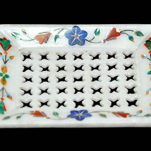 White Fancy Soap Dish of 6″4′