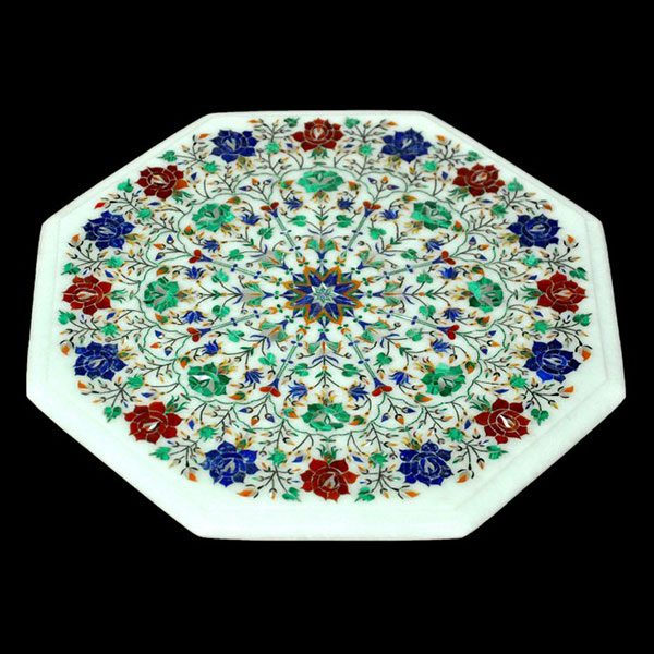 White Octagonal Table Top of 12 inch