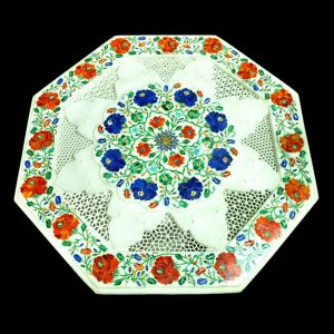 White Octagonal Table Top of 24 inch