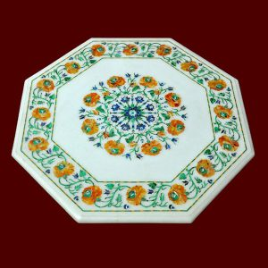 White Octagonal Table Top of 21 inch