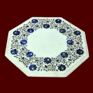 White Octagonal Table Top of 16 inch