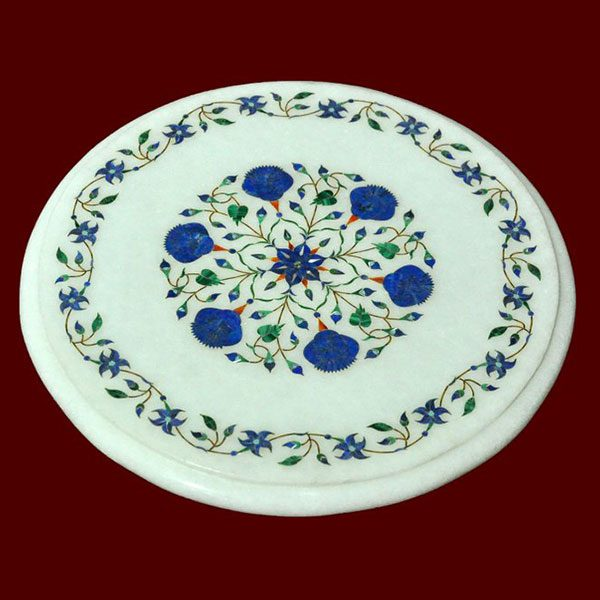 White Round Table Top of 12 inch