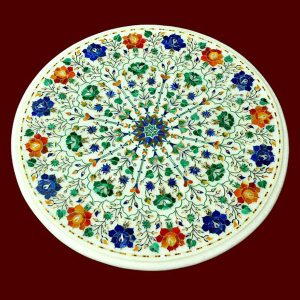 White Round Table Top of 15 inch