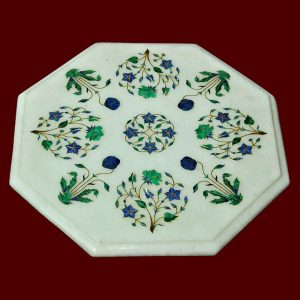 White Octagonal Table Top of 14 inch