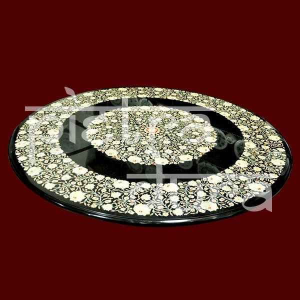 Black Marble 60 Inch Table Top Pietra, 60 Inch Round Table Top
